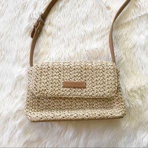 Nine West • basket woven shoulder bag purse